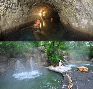 Место купания в термальной воде