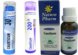 Causticum гомеопатические средства