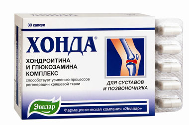 30 Капсул Хонда Эвалар с комплексом хондротина и глюкозамина