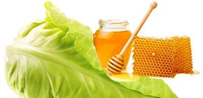 Компресс - мед и капустный лист