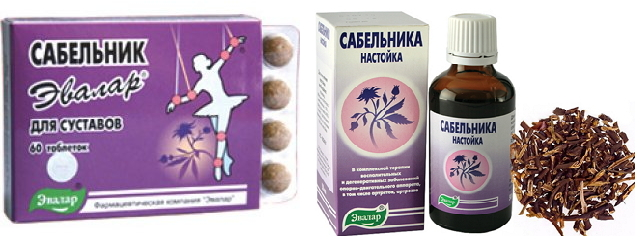 Сабельник эвелар, таблетки, настойки
