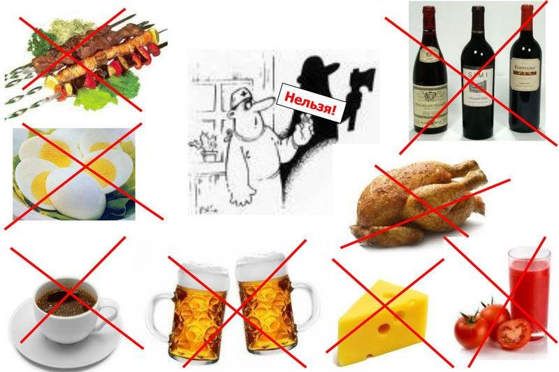 Продукты, вредные для суставов