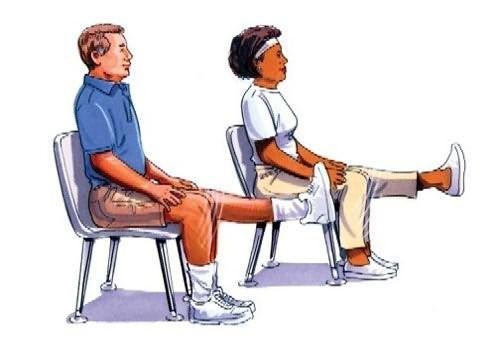 Упражнения в положении сидя