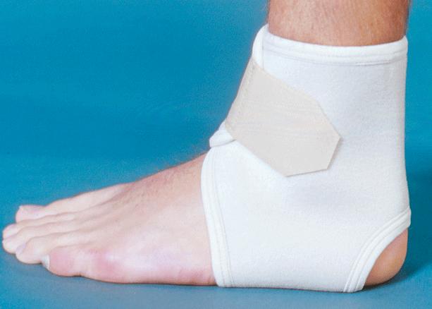 Компрессионный фиксатор на голеностоп при его переломе