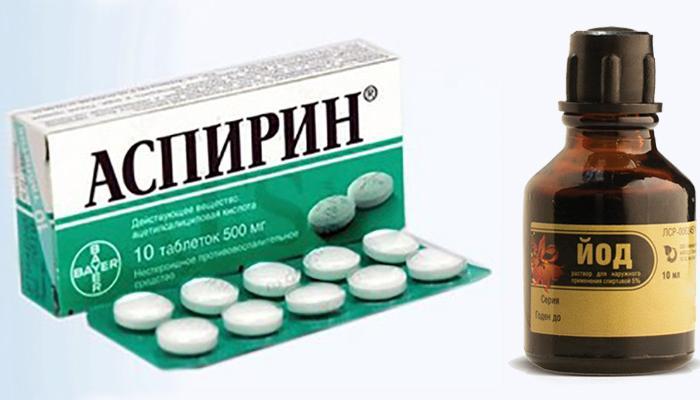 Аспирин и йод