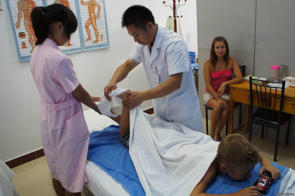 В санаториях Китая проходят лечение и дети, и взрослые