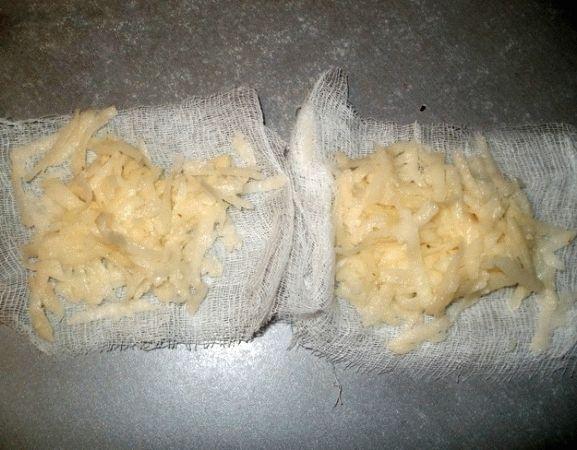 Компресс с использованием сырого картофеля