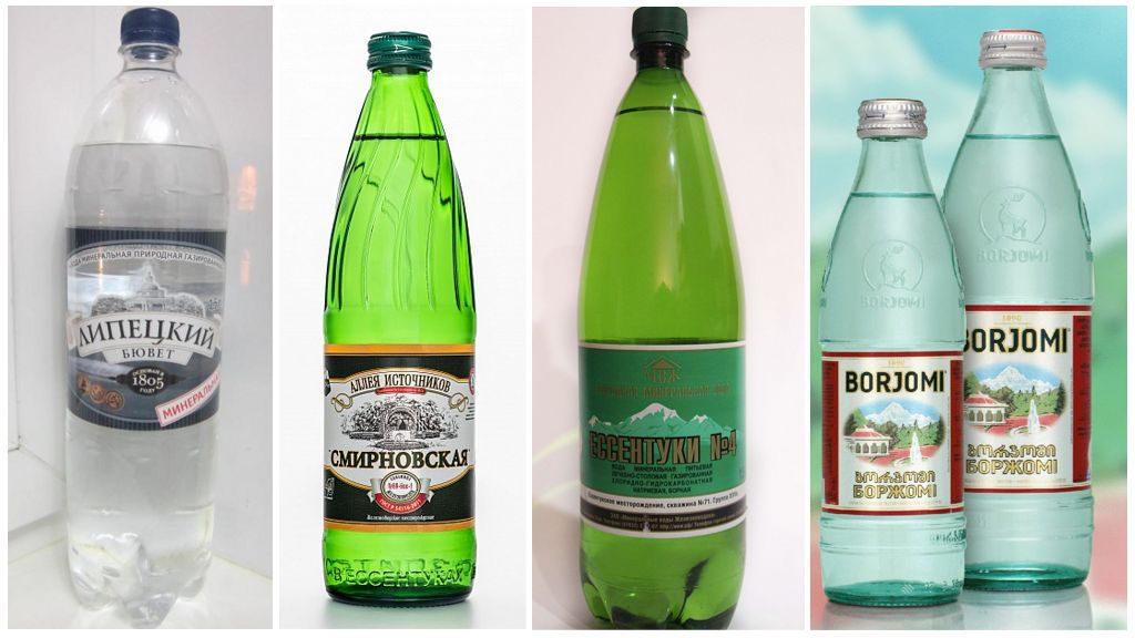 Популярные варианты минеральной воды